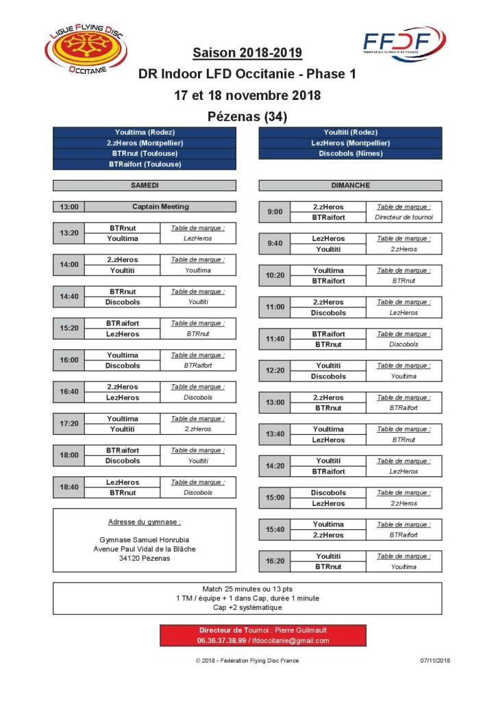 DR Occitanie planning